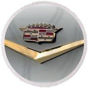 Gold Badge Cadillac Round Beach Towel