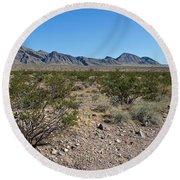 Gold Butte Skyline Round Beach Towel