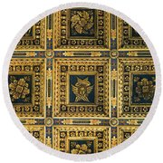 Gold Cathedral Ceiling Italy Round Beach Towel