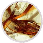 Gold Inspiration Round Beach Towel