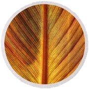 Gold Leaf Round Beach Towel