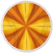 Golden 4 Leaf Clover  Round Beach Towel