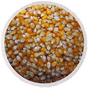 Golden Corn Round Beach Towel