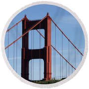 Golden Gate North Tower Round Beach Towel
