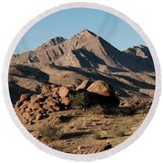 Golden Gold Butte Round Beach Towel