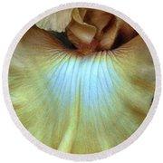Golden Iris Round Beach Towel