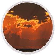 Golden Orange V5 Round Beach Towel