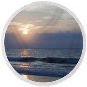 Golden Rose Reflection 2 Round Beach Towel