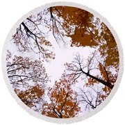 Golden September ... Round Beach Towel