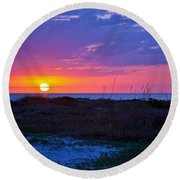 Golden Sun Round Beach Towel