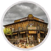 Goldfield Ghost Town - Peterson's Mercantile  Round Beach Towel