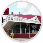 Goldie's Route 66 Diner  Round Beach Towel