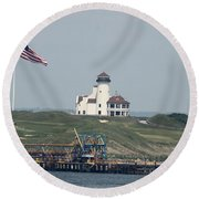 Golf At The Hudson Round Beach Towel