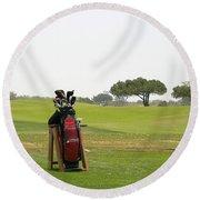 Golf Bag Round Beach Towel