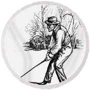 Golf, C1920 Round Beach Towel