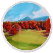 Golf Course In The Fall 2 Round Beach Towel