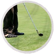 Golf Feet Round Beach Towel