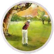 Golf In Spain Castello Masters  04 Round Beach Towel