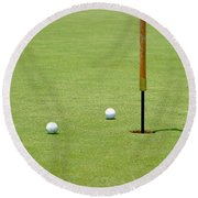 Golf Pin Round Beach Towel