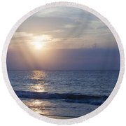 Good Day Sunshine Round Beach Towel