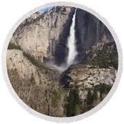 Good Morning Yosemite Round Beach Towel