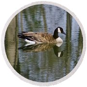 Goose Reflections Round Beach Towel