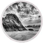 Goscar Rock Tenby 2 Mono Round Beach Towel