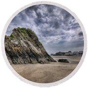 Goscar Rock Tenby 2 Round Beach Towel