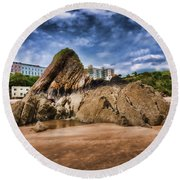 Goscar Rock Tenby 4 Painted Round Beach Towel