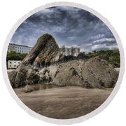 Goscar Rock Tenby 4 Round Beach Towel