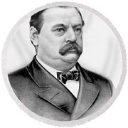 Governor Grover Cleveland - Twenty Second President Of The Usa Round Beach Towel by International  Images