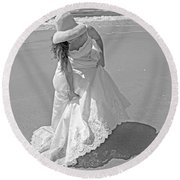 Gown Gathering Round Beach Towel