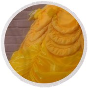Gown Of A Princess Round Beach Towel
