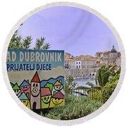 Grad Dubrovnik Round Beach Towel