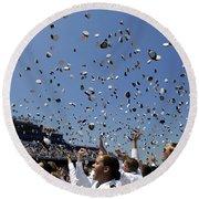 Graduates Of The U.s. Naval Academy Round Beach Towel