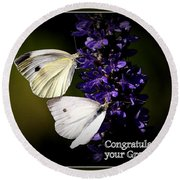 Graduation Congratulations Round Beach Towel