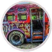 Graffiti Bus Round Beach Towel