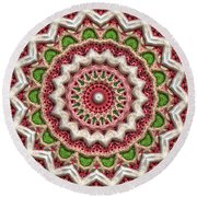 Graffiti Roses Round Beach Towel