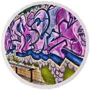 Graffitti-lets Gambl Make Dollars Round Beach Towel