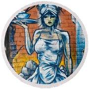 Grafitti Wall Round Beach Towel