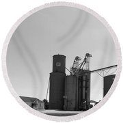Grain Processing Facility In Shirley Illinois 2 Round Beach Towel