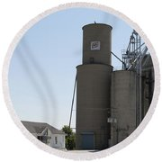 Grain Processing Facility In Shirley Illinois 3 Round Beach Towel
