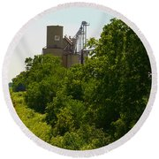 Grain Processing Facility In Shirley Illinois 5 Round Beach Towel