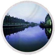 Grand Canal, Portobello, Dublin, Co Round Beach Towel