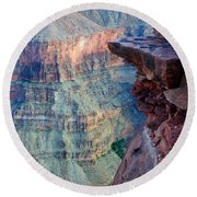 Grand Canyon A Place To Stand Round Beach Towel