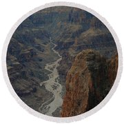 Grand Canyon-aerial Perspective Round Beach Towel