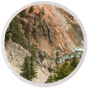 Grand Canyon And Yellowstone River Round Beach Towel