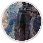Grand Canyon Close Enough Round Beach Towel