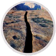 Grand Canyon Dividing Line Round Beach Towel