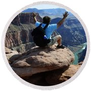 Grand Canyon Feeling All Right Round Beach Towel